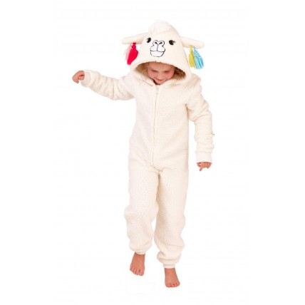Kids Fleece All In One - Llama