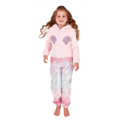 Kids Fleece All In One - Mermaid