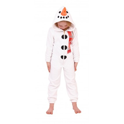 Kids Fleece All In One - Snowman