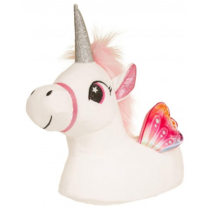 Girls Character Slippers - 3D Unicorn White