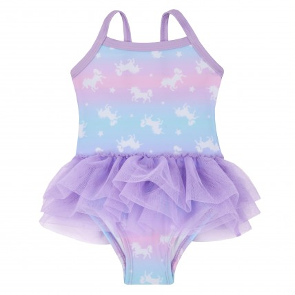 Girls Swimming Costume - Unicorn Tutu Swimsuit