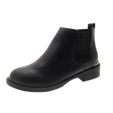 Girls Faux Leather Chelsea Ankle Boots