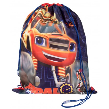 Blaze and The Monster Machines Boys Drawstring Bag - Pedal To The Metal