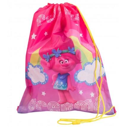 Trolls Girls Drawstring Bag - Poppy Rainbow Dreams