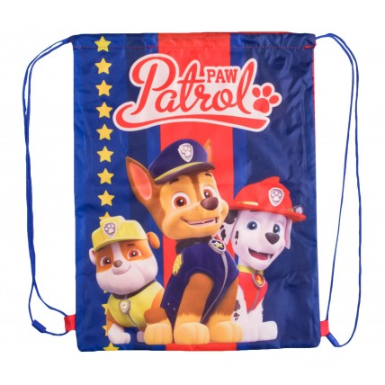 Paw Patrol Boys Drawstring Bag - Chase, Rubble + Marshall