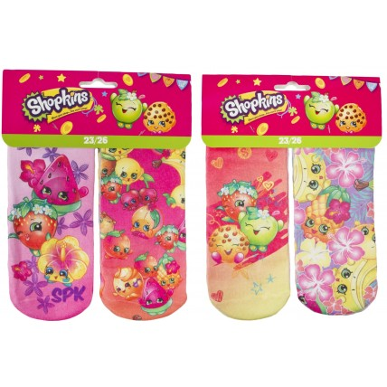 2 Pack Shopkins Socks