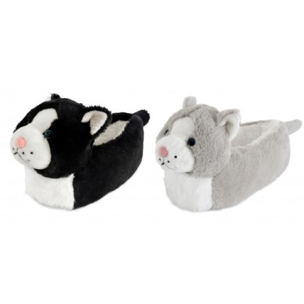 Kids Character Slippers - 3D Cat