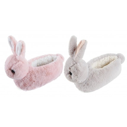 Girls Character Slippers - 3D Bunny Rabbit