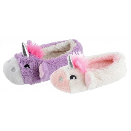 Girls Mule Slippers - 3D Unicorn