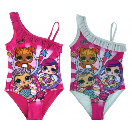 Girls Lol Surprise Dolls Swimming Costume - Ruffle Shoulder