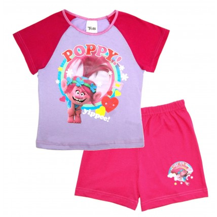Trolls Short Pyjamas - Poppy Yippee