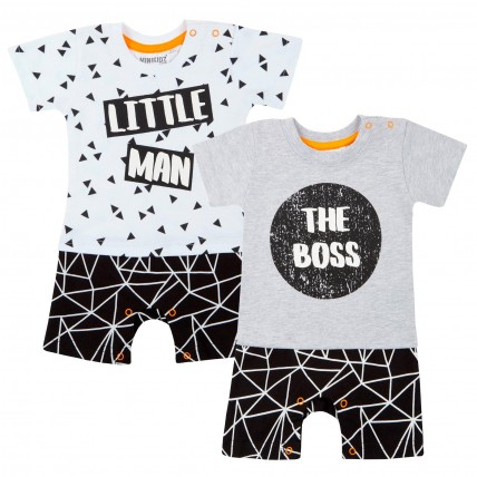 Baby Boys One Piece Romper - Logos