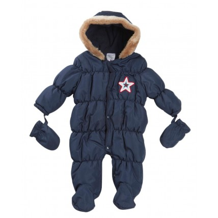 Baby Quilted Snowsuit Pramsuit