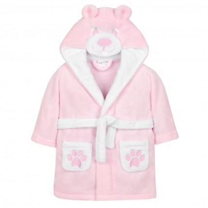 Baby 3D Fleece Dressing Gown - Teddy Bear