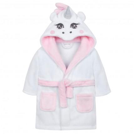 Baby 3D Fleece Dressing Gown - Unicorn