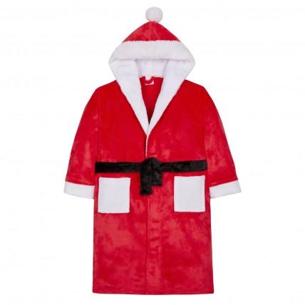 Novelty Santa Hooded Bath Robe