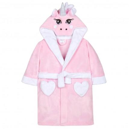 Girls 3D Novelty Unicorn Dressing Gown
