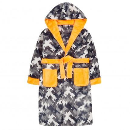 Boys Novelty Gaming Pixel Dressing Gown