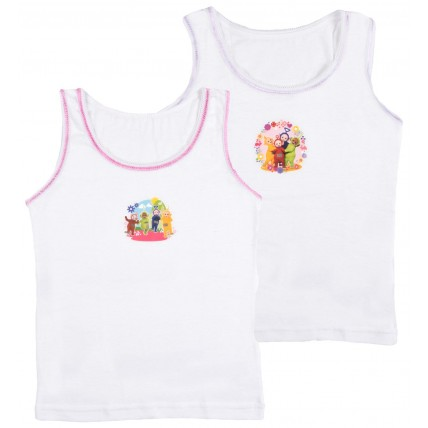 Teletubbies Girls Vests - 2 Pack