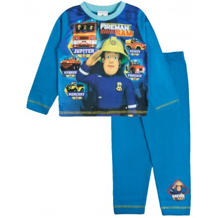 Fireman Sam Boys Long Pyjamas - Saving The Day