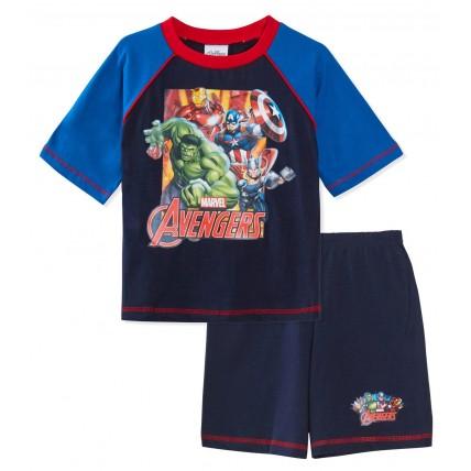 Marvel Avengers Short Pyjamas - Navy / Red Trim