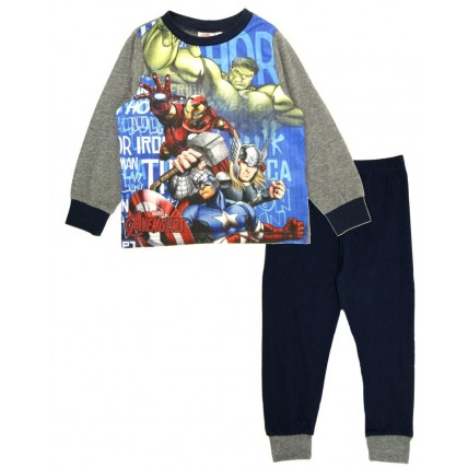 Avengers Long Pyjamas - Blue / Grey
