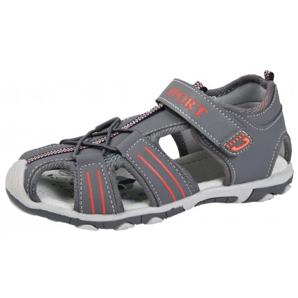 Boys Closed Toe Sandals - Grey