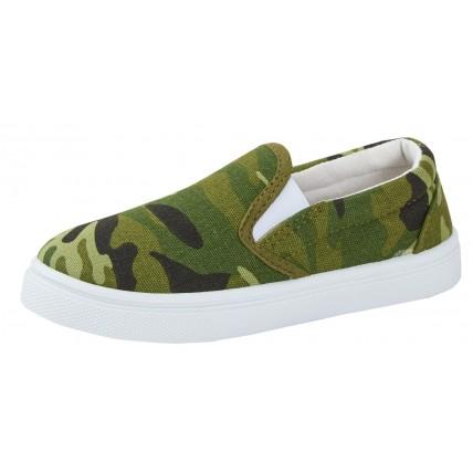 Boys Camouflage Canvas Pumps