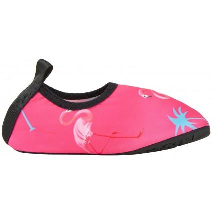Girls Flamingo Aqua Socks