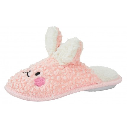 Girls 3D Bunny Mule Slippers