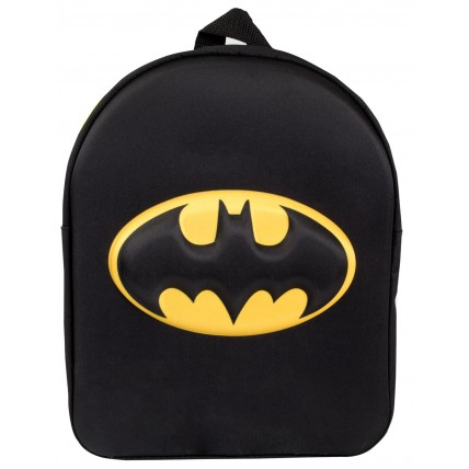 Boys 3D Batman Logo Backpack