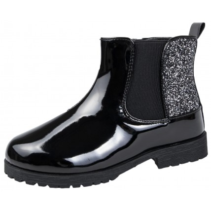 Girls Mid Calf Ankle Boots - Glitter