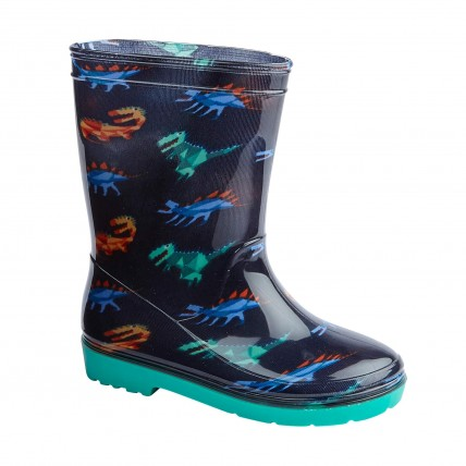 Boys Dinosaur Wellington Boots