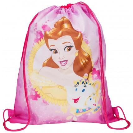 Girls Disney Princess Belle Drawstring Gym Bag