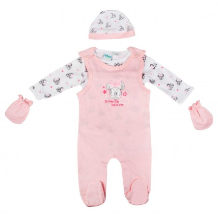 Minnie Mouse Baby Girl Dungaree Outfit