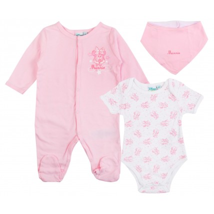 Disney Minnie Mouse Baby Girls Outfit  3 Piece Gift Set