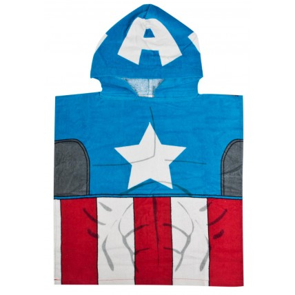 Marvel Poncho Towel - Captain America