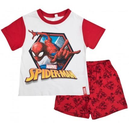 Marvel Spiderman Short Pyjamas - Red / White