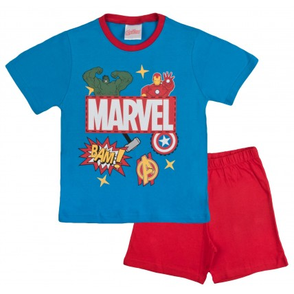 Marvel Avengers Boys Short Pyjamas