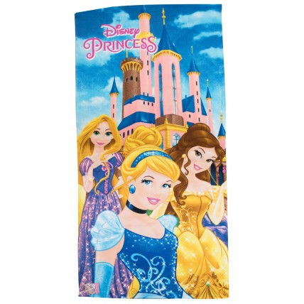 Disney Princess Beach Towel - 3 Character Castle