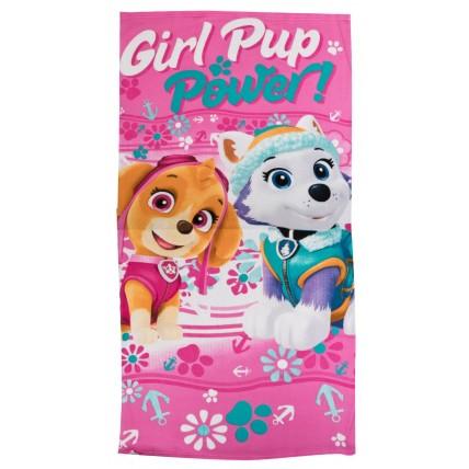 Paw Patrol Beach Towel - Girl Pup Power