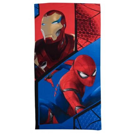 Spiderman Beach Towel  Spiderman + Iron Man
