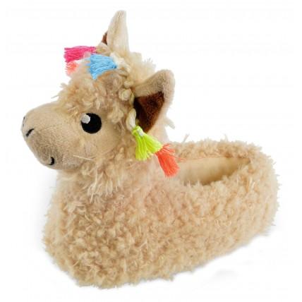 Girls Character Slippers - 3D Llama