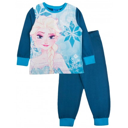 Girls Disney Frozen Elsa Long Pyjama Set
