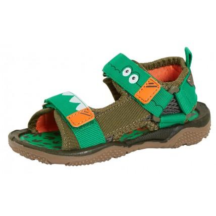 Boys Novelty Crocodile Sandals - Green