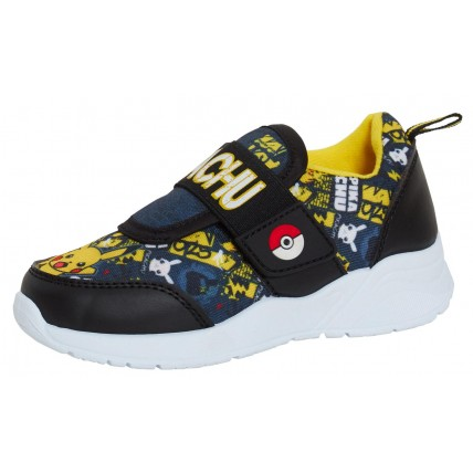 Boys Pokemon Trainers Kids Pikachu Easy Touch Fasten Sports Pumps Sneakers Shoes