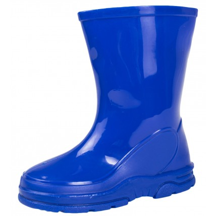 Blue Mid Calf Wellington Boots