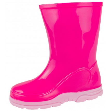 Pink Mid Calf Wellington Boots