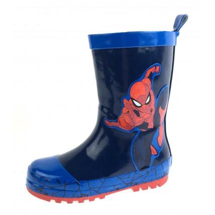 Spiderman Boys Rubber Wellington Boots - Jump