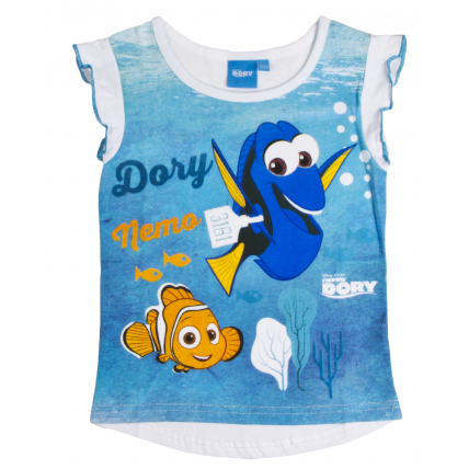 Finding Dory Frilled Sleeve T-Shirt - Dory & Nemo